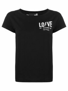 Love Moschino chest logo T-shirt - Black