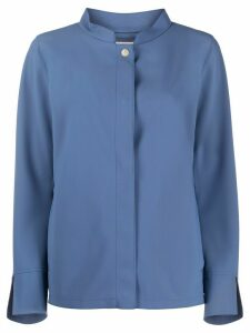 Herno snap button rain jacket - Blue