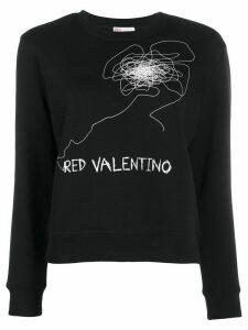 RedValentino printed sweatshirt - Black