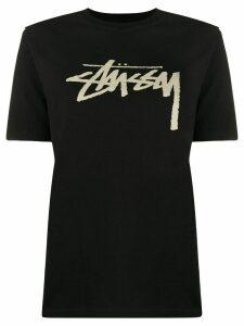 Stussy crew-neck logo T-shirt - Black