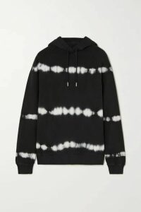 Ninety Percent - Tie-dyed Organic Cotton-jersey Hoodie - Black