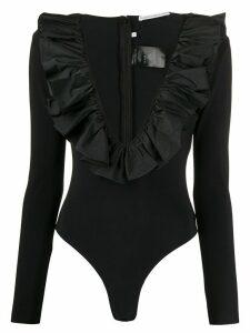 Alessandra Rich frill-collar top - Black