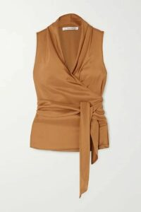 Max Mara - Elce Silk Wrap Top - Camel