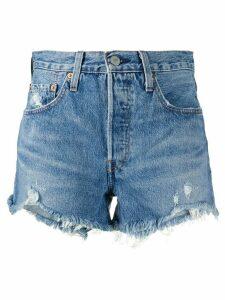 Levi's distressed jean shorts - Blue