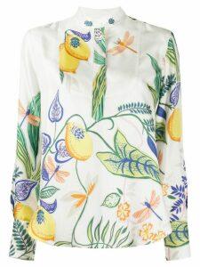 La Doublej Portofino silk blouse - White