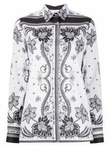 Golden Goose foulard-print long-sleeved shirt - White