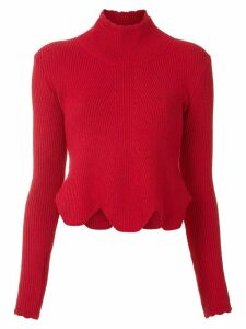 Andrea Bogosian Red knitted blouse