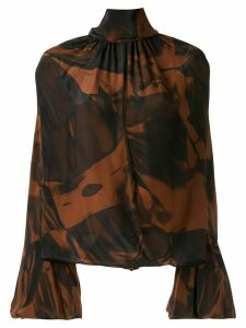 CAMILLA AND MARC Rowe floral-print draped blouse - Brown