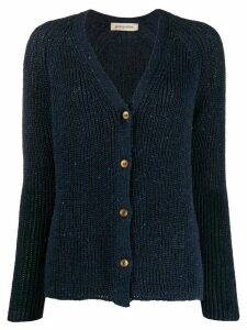 Gentry Portofino ribbed knit cardigan - Blue
