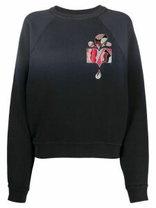 Isabel Marant ombré embroidered sweatshirt - Grey