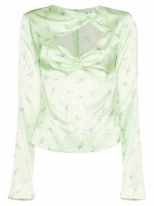 GANNI floral print top - Green
