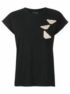 Emporio Armani logo patch T-shirt - Black