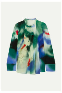 Lemaire - Printed Silk Blouse - Blue