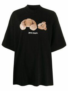 Palm Angels teddy bear print T-shirt - Black
