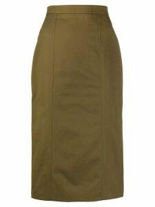 Alexander McQueen high-waist midi skirt - Green