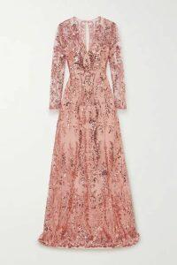 Naeem Khan - Sequin-embellished Tulle Gown - Blush