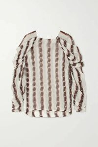 MUNTHE - Explore Striped Voile Top - White