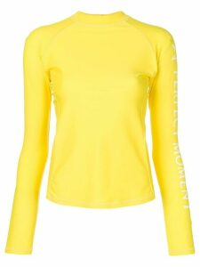 Perfect Moment logo sleeve rashguard - Yellow