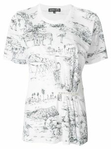 Markus Lupfer Sian Serengeti Jewel T-shirt - WHITE/BLACK