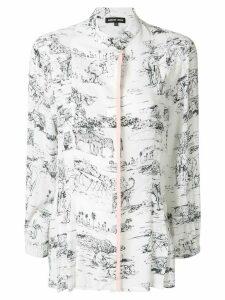 Markus Lupfer Serengeti print shirt - WHITE/BLACK
