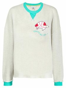 Mira Mikati There's No Rush crew-neck jumper - NEUTRALS