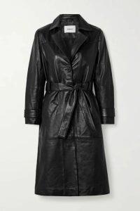 Deadwood - Terra Belted Leather Coat - Black