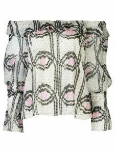 Cynthia Rowley Russel ikat-print top - Grey