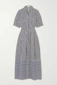 palmer//harding - Sunda Striped Poplin Maxi Shirt Dress - Black