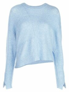 3.1 Phillip Lim LOFTY BASKET WEAVE PULLOVER - Blue