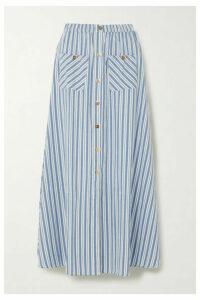 Melissa Odabash - Kelly Striped Cotton Maxi Skirt - Blue