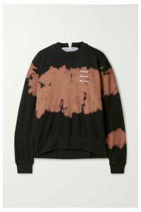 Proenza Schouler White Label - Tie-dyed Printed Cotton-jersey Sweatshirt - Brown