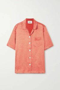Nanushka - Ella Oversized Washed-satin Shirt - Pastel orange