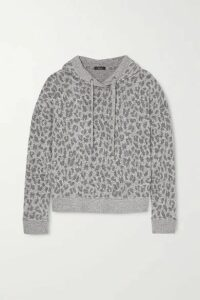 Rails - Murray Leopard-print Brushed-jersey Hoodie - Gray