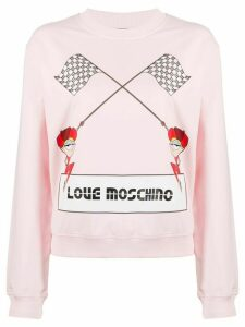 Love Moschino logo knit jumper - PINK