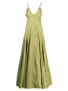 Jacquemus pleated long dress - Green