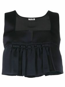 Miu Miu cropped pleated top - Blue