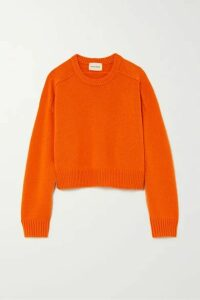 LOULOU STUDIO - Bruzzi Cropped Wool And Cashmere-blend Sweater - Orange