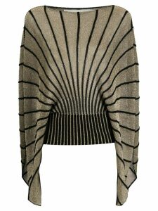 Stella McCartney cape-style knitted top - GOLD