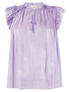 Ulla Johnson Clea crinkled blouse - PURPLE
