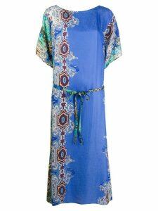 Antonelli paisley print dress - Blue