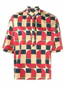 Fay geometric print shirt - Red