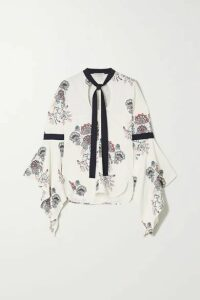 JW Anderson - Pussy-bow Paisley-print Crepe Blouse - White