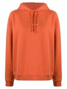 Acne Studios reverse logo oversized hoodie - Red