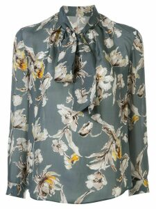 Tomorrowland floral-print pussy boy blouse - Blue