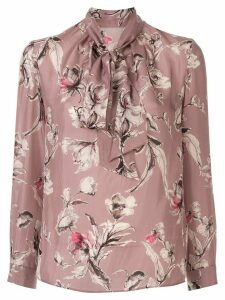 Tomorrowland floral-print pussy bow blouse - PINK