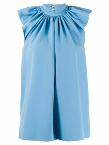 Victoria Victoria Beckham ruched shoulder blouse - Blue