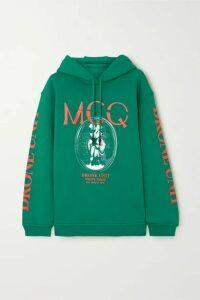 McQ Alexander McQueen - Oversized Printed Cotton-jersey Hoodie - Green