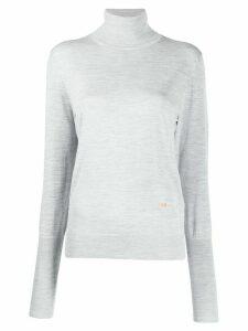 Victoria Beckham roll-neck lightweight sweater - Grey