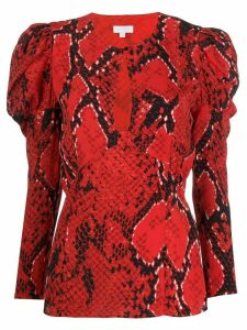 Lala Berlin Bellina Fire Python-print blouse - Red