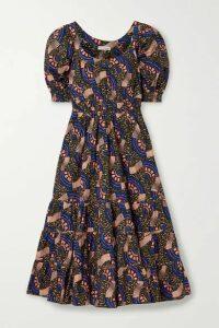 Ulla Johnson - Juniper Floral-print Cotton-poplin Midi Dress - Army green